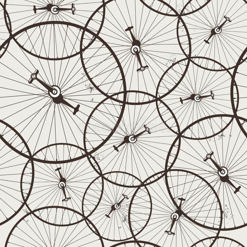 Rueda de bicicleta inconsútil ilustración del vector
