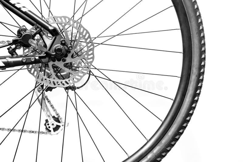 Rueda de bicicleta posterior imagen de archivo