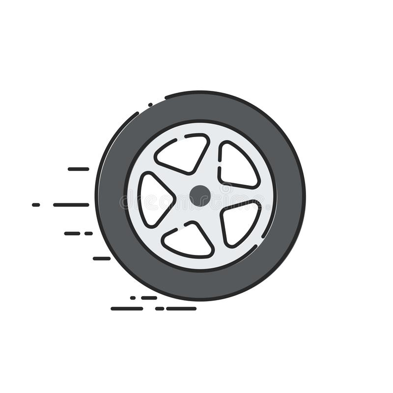 Rueda de coche libre illustration