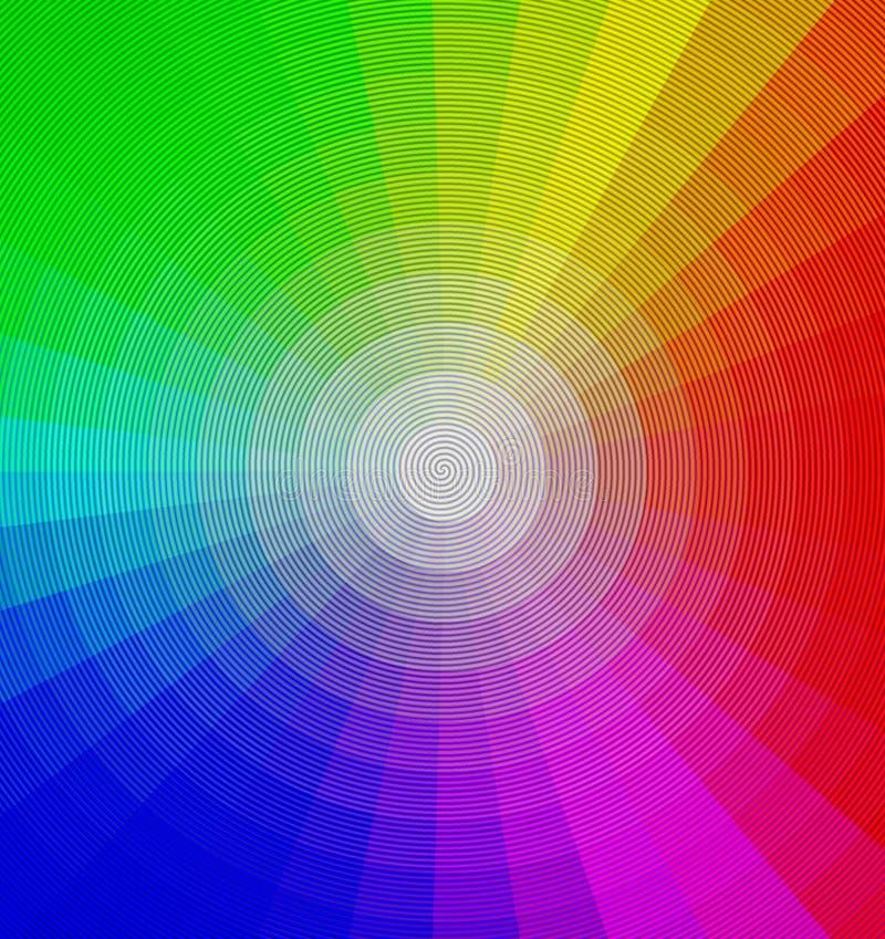 Rueda de color stock de ilustración