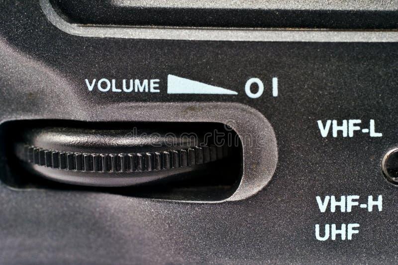 Rueda de control de volumen foto de archivo