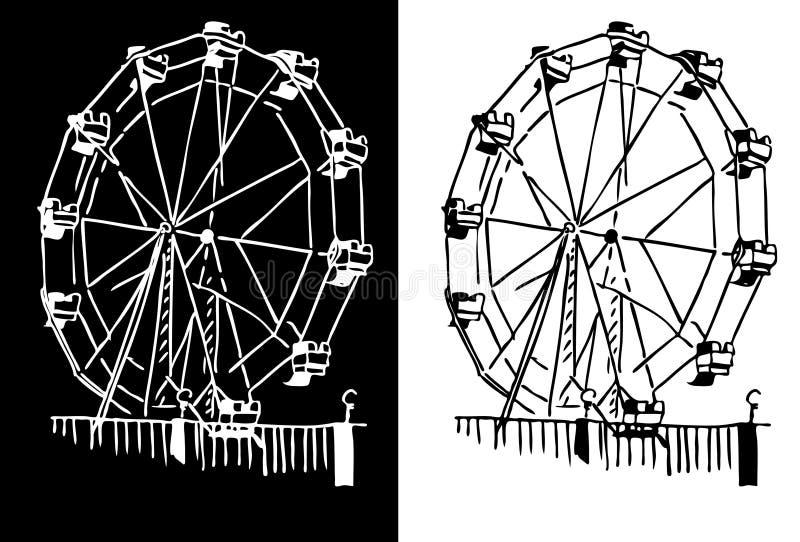 Rueda de Ferris ilustración del vector