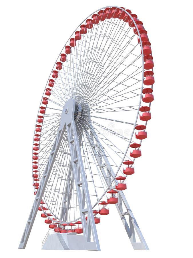 Rueda de Ferris stock de ilustración