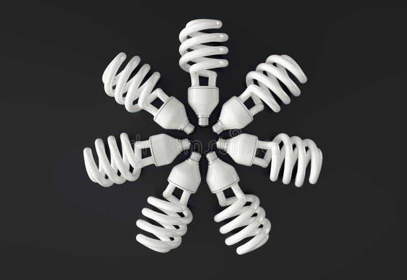 Rueda de la bombilla, ejemplo 3D stock de ilustración