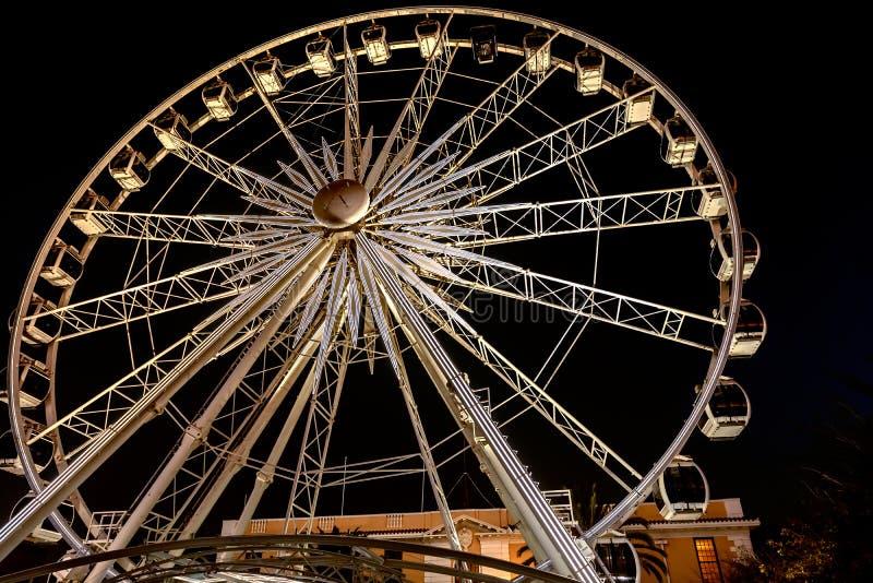 Rueda de la excelencia Ferriswheel en Cape Town imagen de archivo