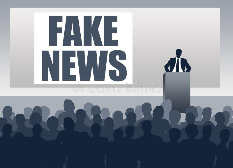 Rueda de prensa falsa de las noticias libre illustration