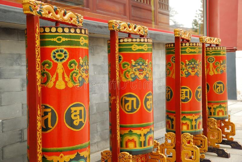 Rueda de rezo de Tíbet fotos de archivo libres de regalías