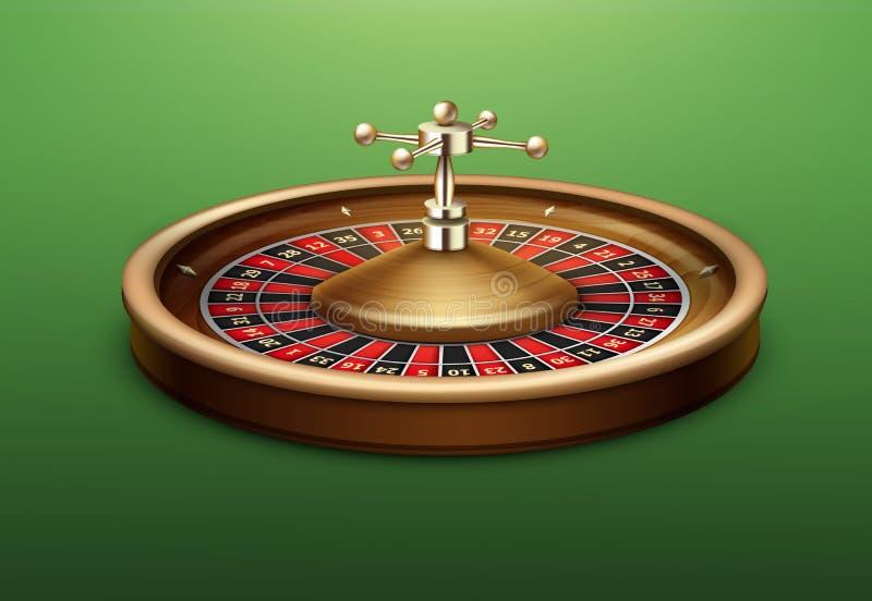 Rueda de ruleta del casino stock de ilustración