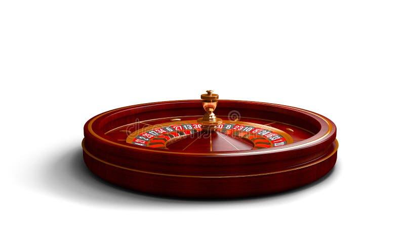 Rueda de ruleta del casino aislada en el fondo blanco ilustración de la representación 3d imagenes de archivo