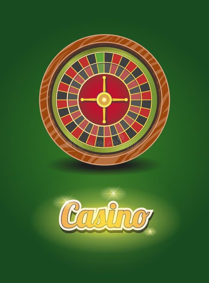 Rueda de ruleta del casino Ilustración del vector ilustración del vector