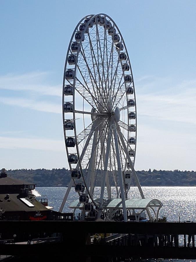 Rueda de Seattle Ferris imagen de archivo