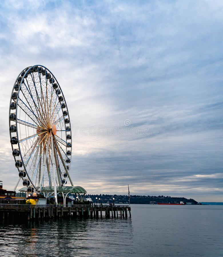 Rueda de Seattle Ferris fotos de archivo