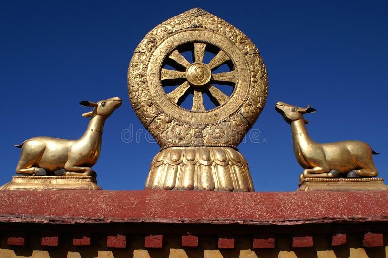 Rueda del dharma fotografía de archivo libre de regalías