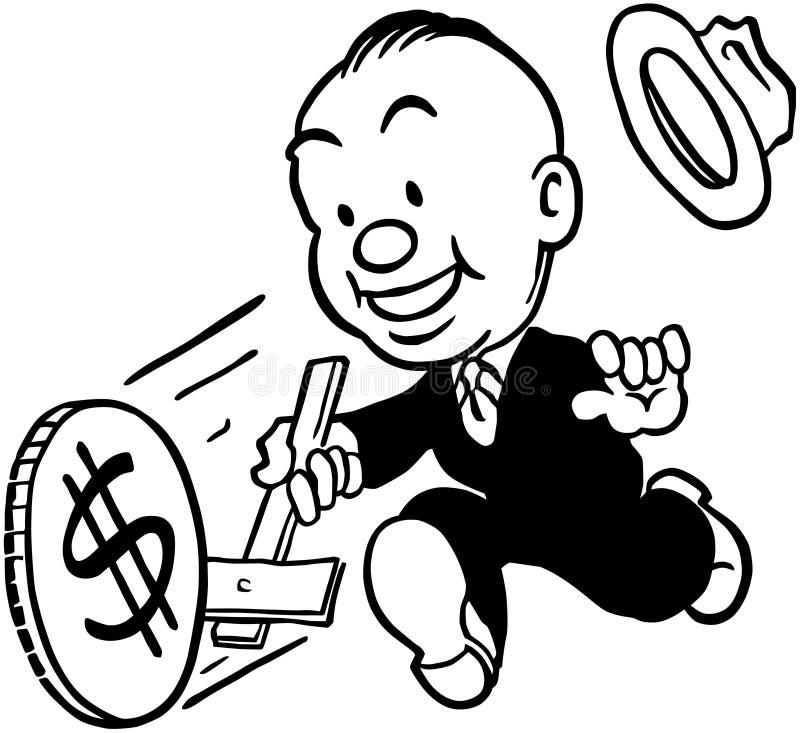 Rueda del dinero ilustración del vector