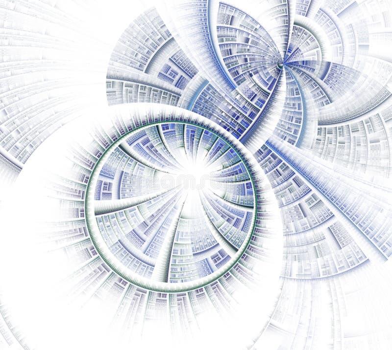 Rueda del fractal y gráfico abstractos de los rayos ilustración del vector