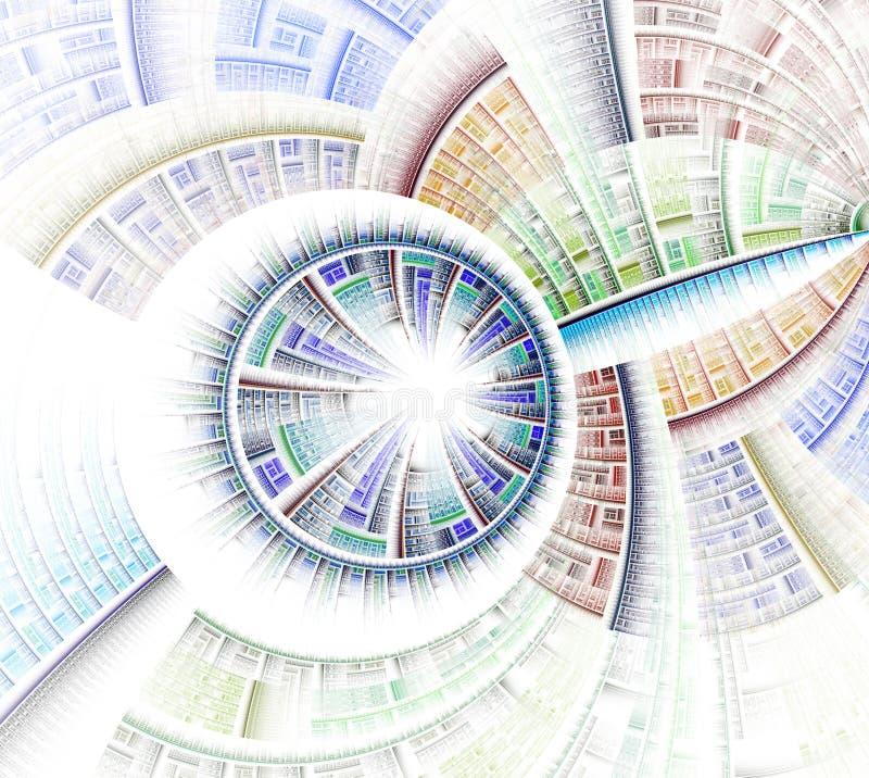 Rueda del fractal y gráfico abstractos de los rayos stock de ilustración