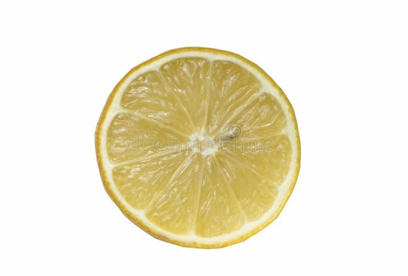Rueda del limón en un fondo blanco fotografía de archivo