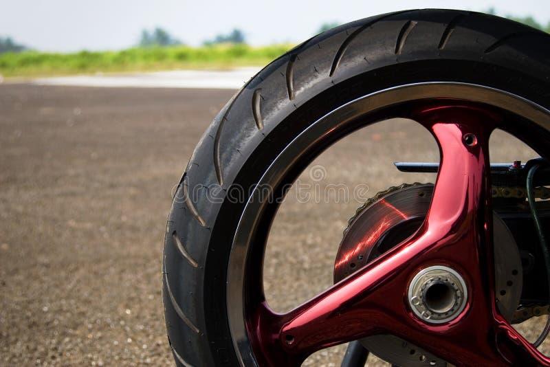 Rueda del superbike de Ducati foto de archivo