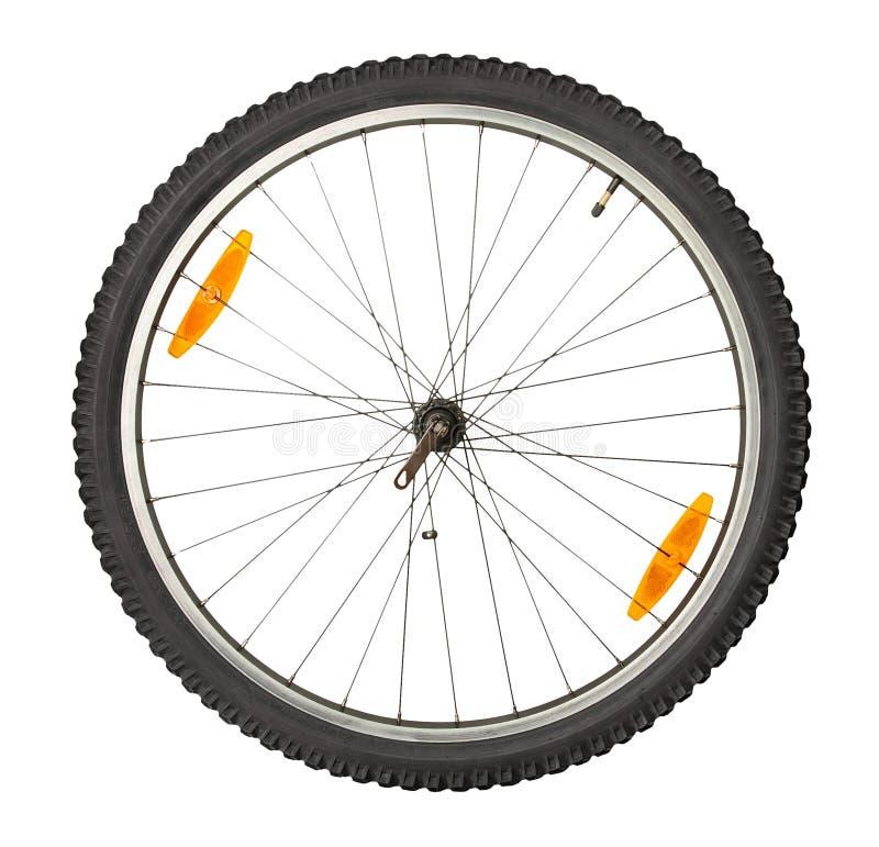 Rueda delantera de la bici fotografía de archivo libre de regalías