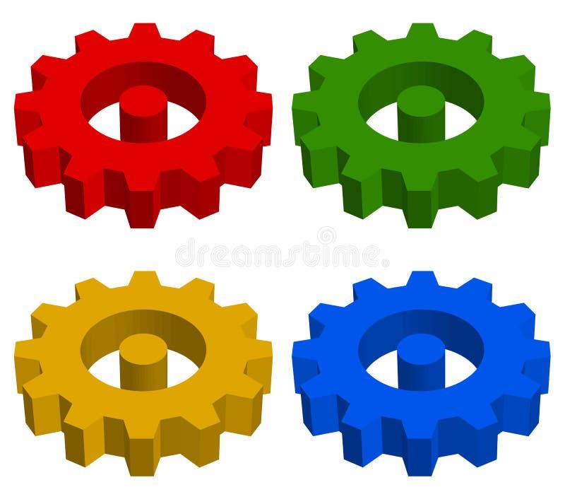 Rueda dentada, rueda de estante, icono del engranaje, muestra Servicio, desarrollo, mA stock de ilustración