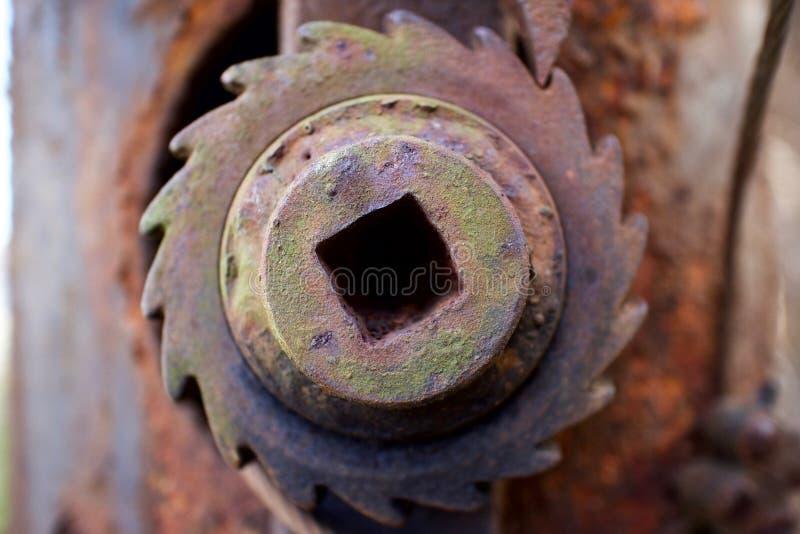 Rueda dentada vieja oxidada foto de archivo libre de regalías