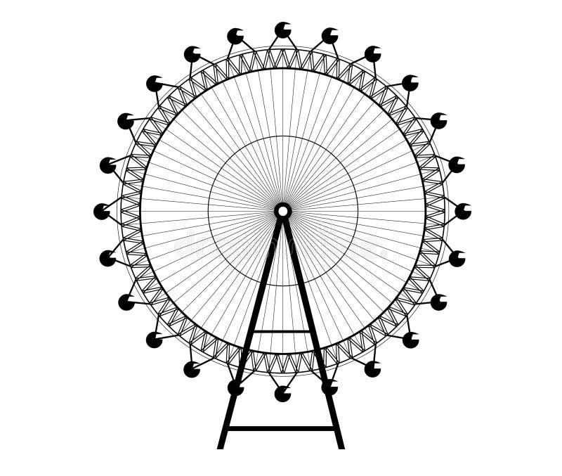 Rueda grande ilustración del vector