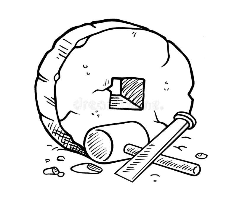 Rueda primitiva stock de ilustración