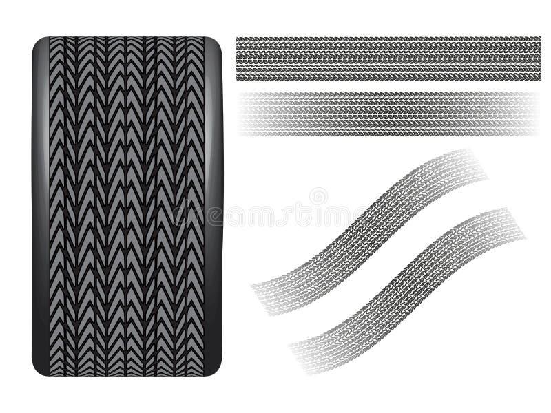 Rueda y textura del neumático libre illustration