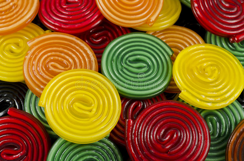 Ruedas coloridas del caramelo stock de ilustración