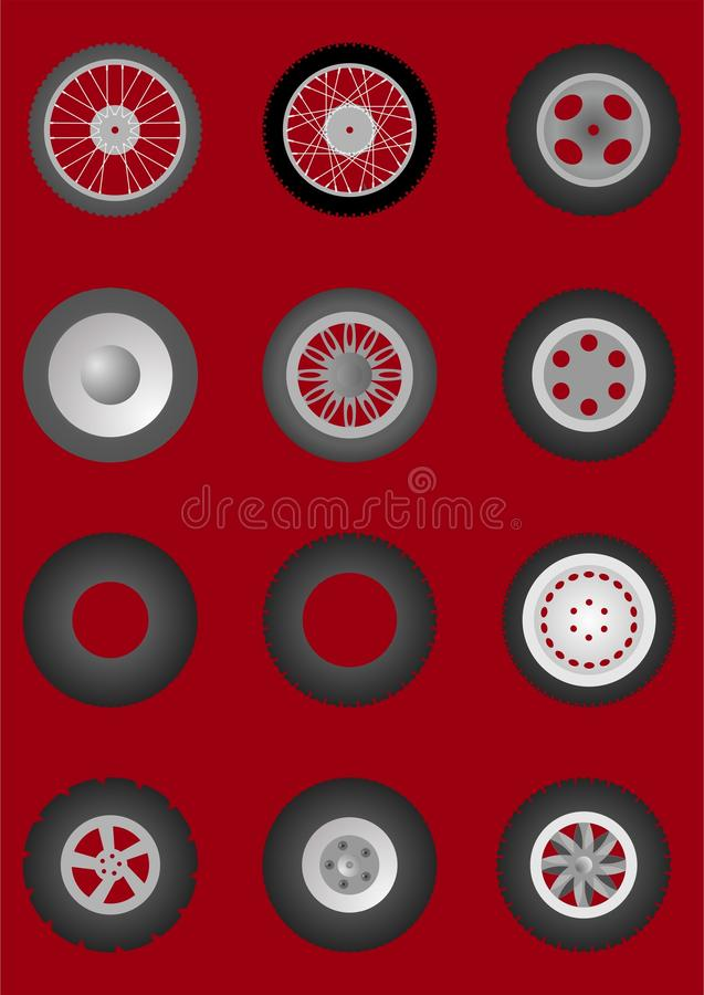 Ruedas con los neumáticos. libre illustration
