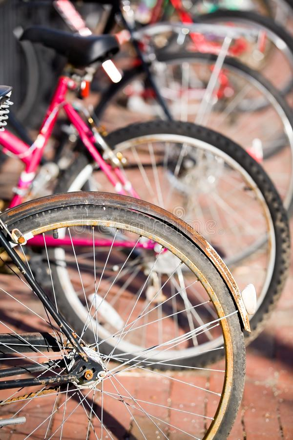 Ruedas de bicicleta fotos de archivo