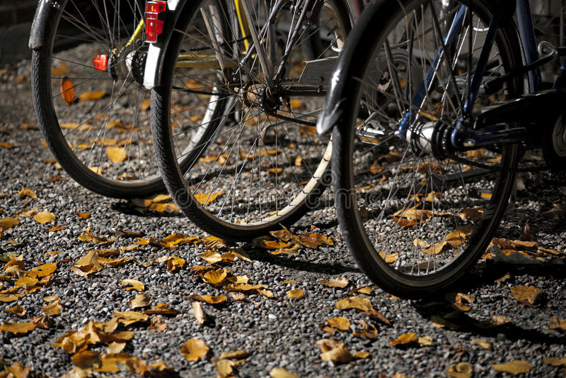 Ruedas de bicis imagenes de archivo