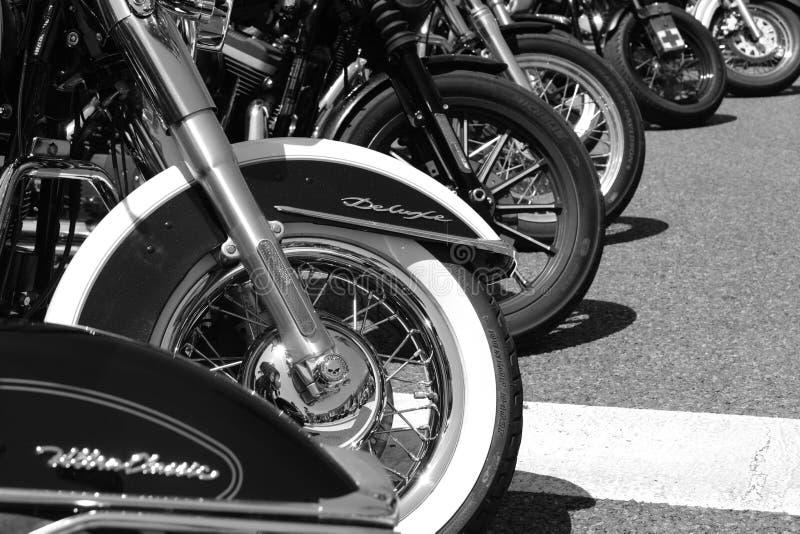 Ruedas de la moto imagenes de archivo