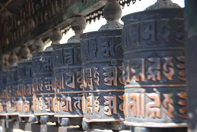 Ruedas de rezo de Katmandu fotos de archivo libres de regalías