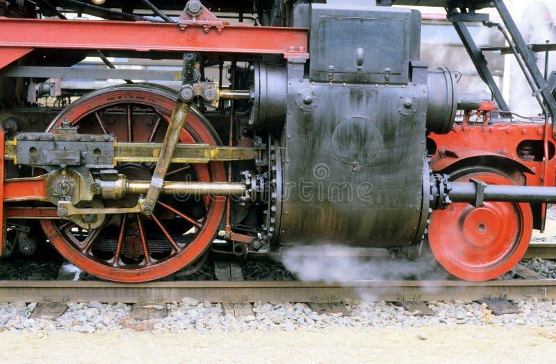 Ruedas de un steamengine viejo foto de archivo libre de regalías