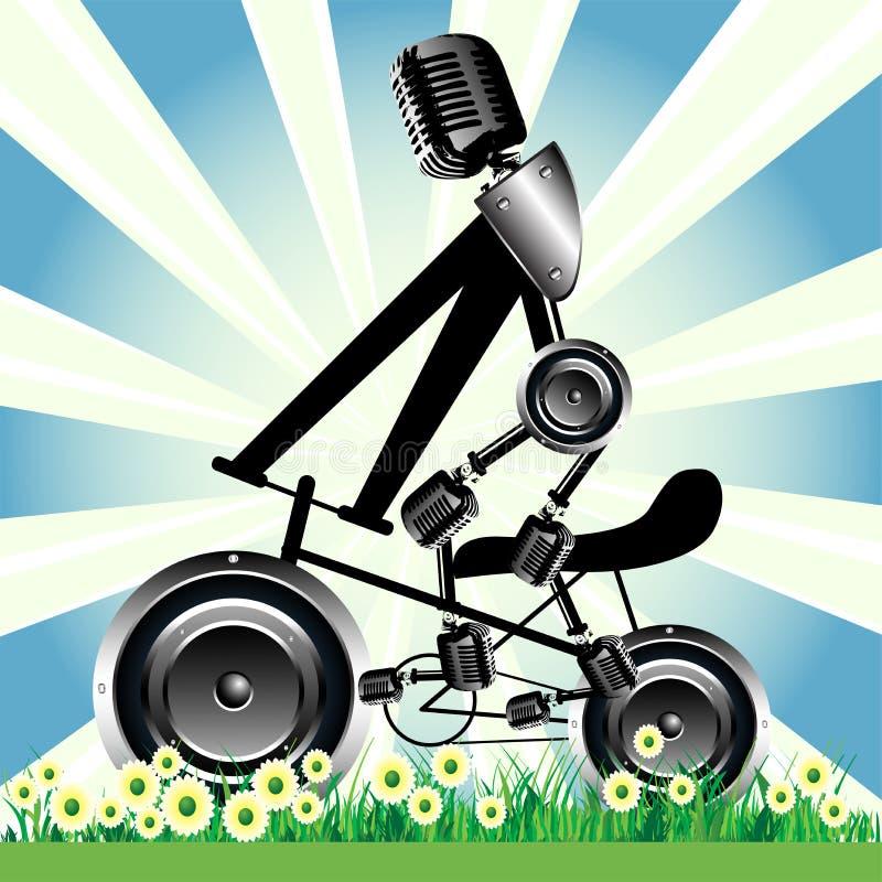 Ruedas del altavoz de la bicicleta libre illustration