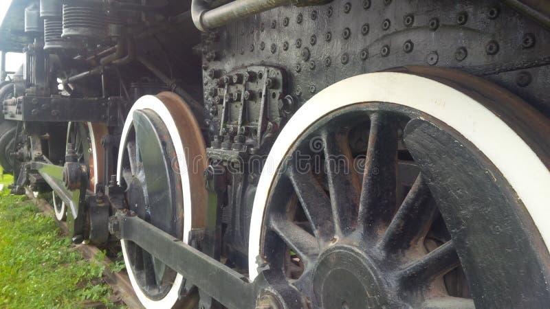 Ruedas del tren foto de archivo