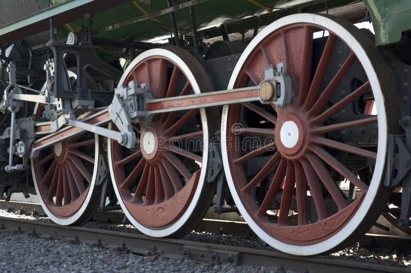 Ruedas del tren imagen de archivo
