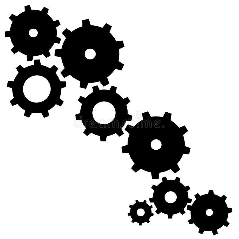 Ruedas dentadas ilustración del vector