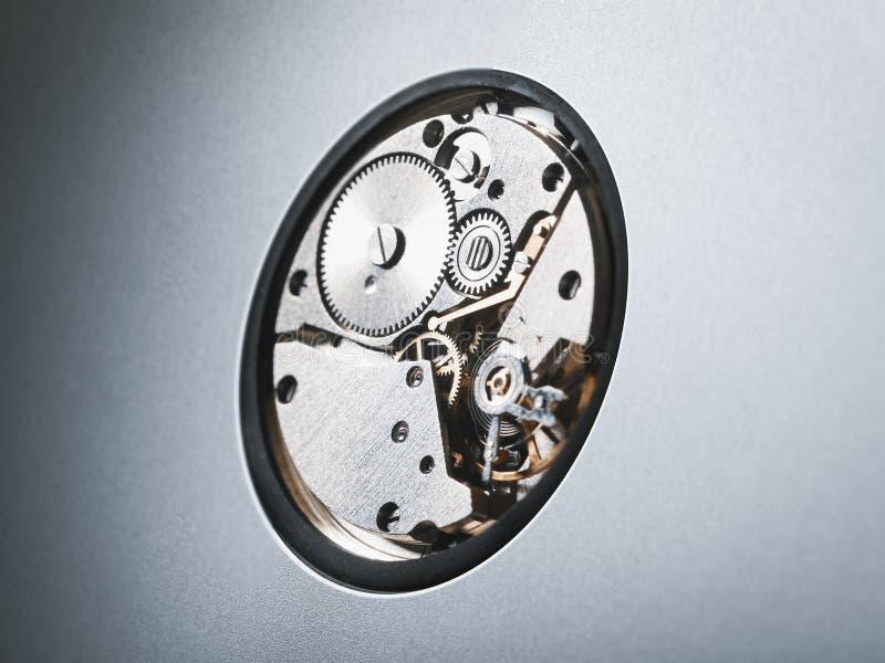 Ruedas dentadas del metal en mecanismo foto de archivo