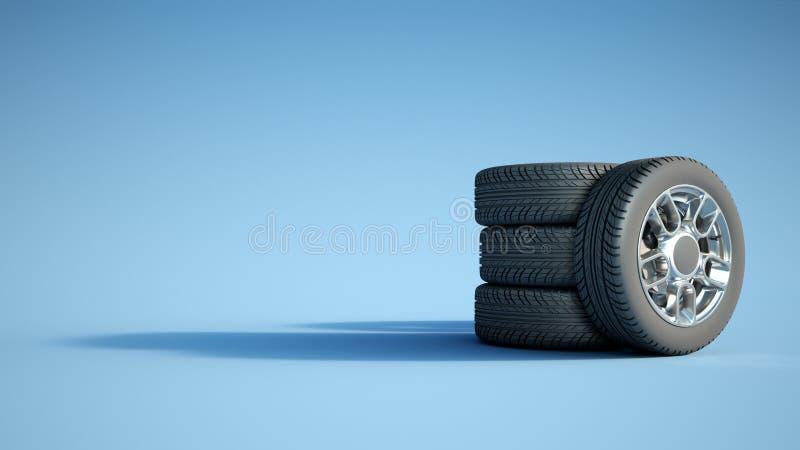 ruedas ilustración del vector
