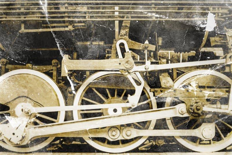 Ruedas viejas del acero de la locomotora de vapor fotos de archivo libres de regalías