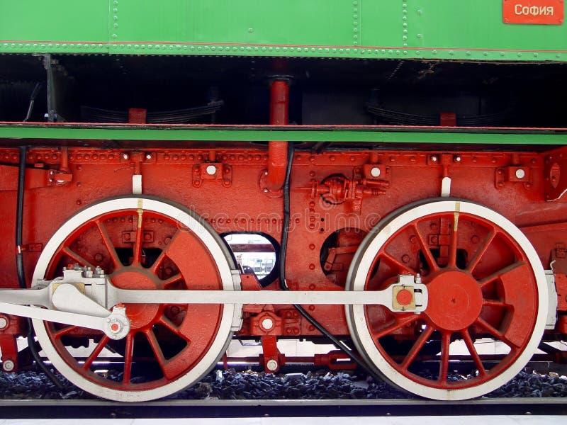 Ruedas viejas del tren foto de archivo