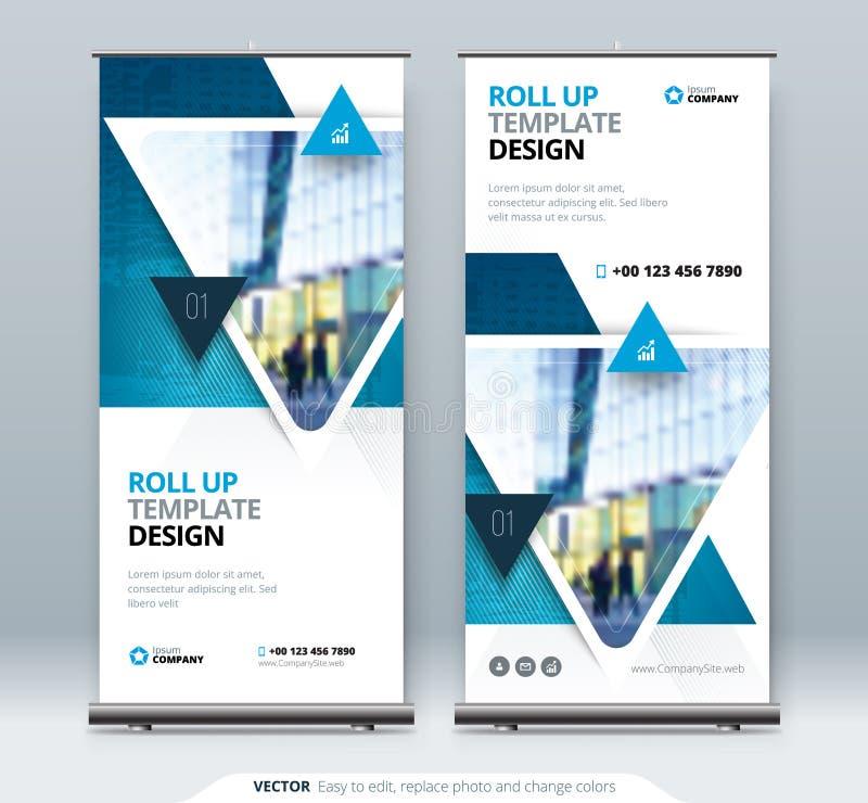 Ruede para arriba el soporte de la bandera Concepto de la presentación libre illustration