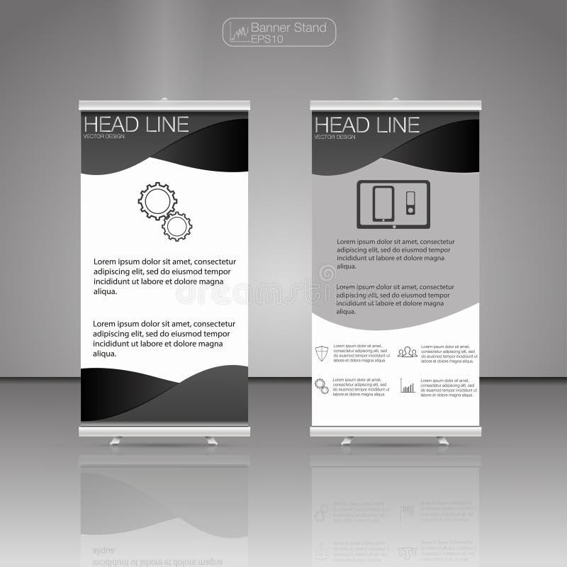 Ruede para arriba el soporte de la bandera Vector Diseño del aviador del folleto del negocio libre illustration