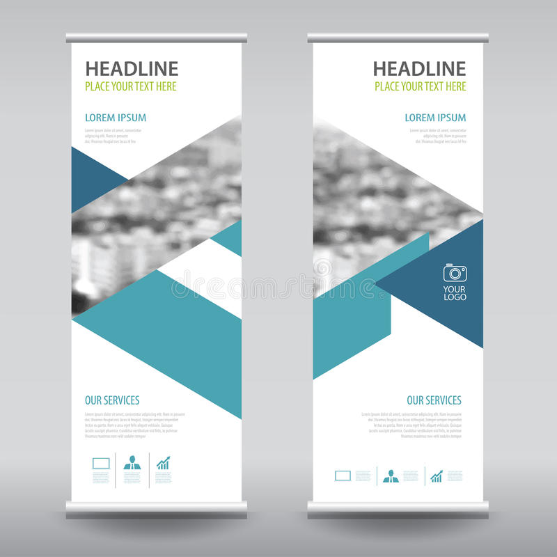 Ruede para arriba la plantilla de la vertical del diseño de la bandera del aviador del folleto del negocio libre illustration