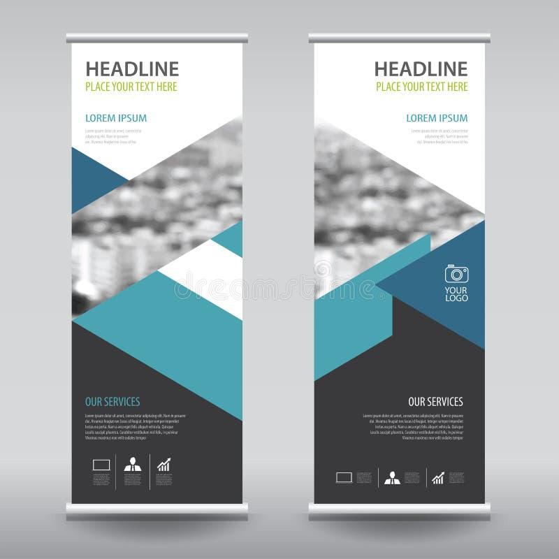 Ruede para arriba la plantilla de la vertical del diseño de la bandera del aviador del folleto del negocio stock de ilustración