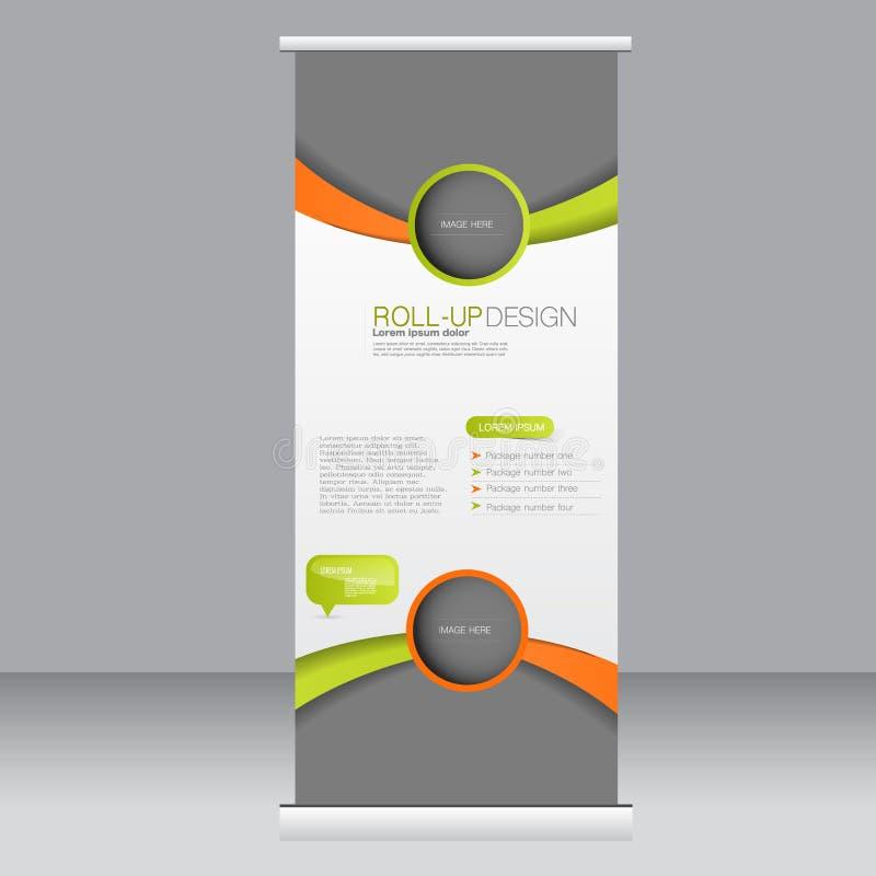Ruede para arriba la plantilla del soporte de la bandera Fondo abstracto para el diseño, negocio, educación, anuncio Color anaran libre illustration