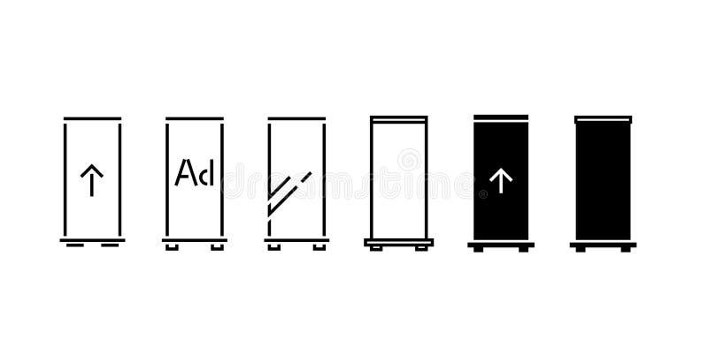 Ruede para arriba las banderas que el icono - ejemplo del vector - vector el ejemplo libre illustration