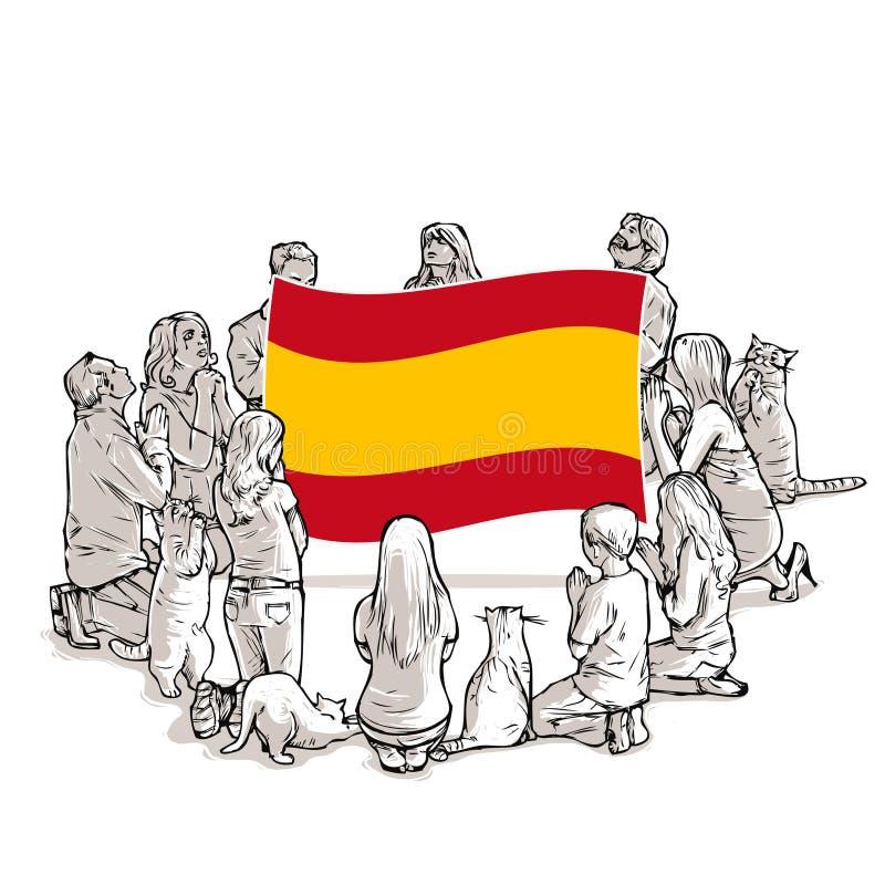 Ruegue para España libre illustration